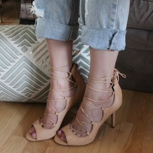 Vince Camuto (worn twice) lace-up heels